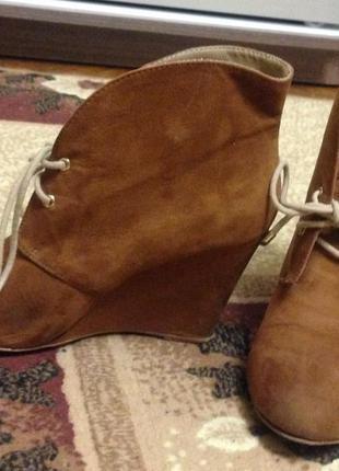 Ботинки на платформе zara