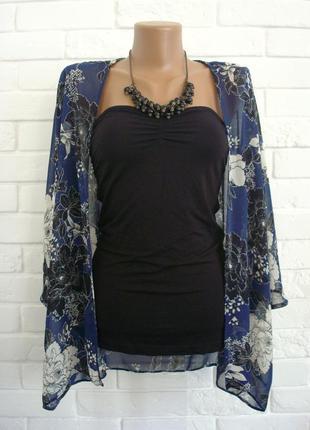 Легкий летний пиджак накидка new look uk10 в идеальном состоянии