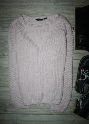 Вязаный свитер нежного пудрового цвета