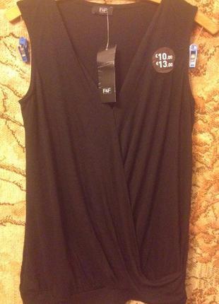 Блуза футболка на запах от f&f  m/l