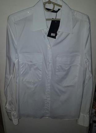 Стильная классическая рубашка zara woman - р-р м, думаю и на с, с-м можно