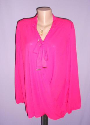 Малиновая блуза батального 24 размера george
