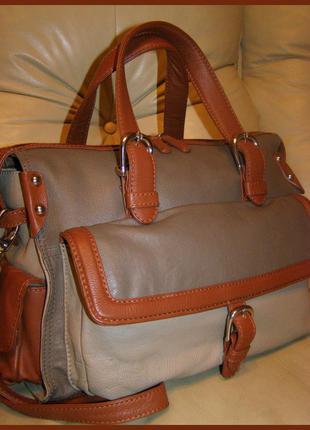 Vip роскошная большая кожаная сумка – 100% натуральная мясистая кожа – adagio - италия