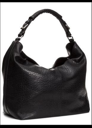 Vip шикарная большущая кожаная сумка hobo - 100% натуральная крупнозернистая кожа – h&m