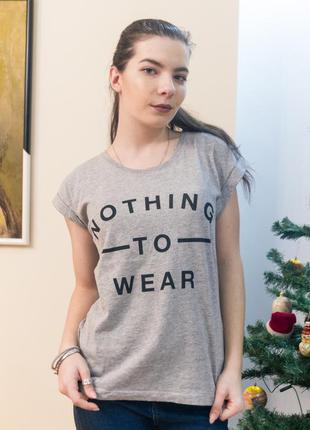 Стильна футболка new look з надписом і завернутими рукавами
