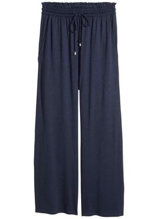 Широкие брюки джерси от h&m