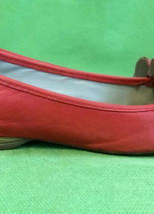 Туфли, балетки кожаные clarks uk6, р.39, ст.26см.