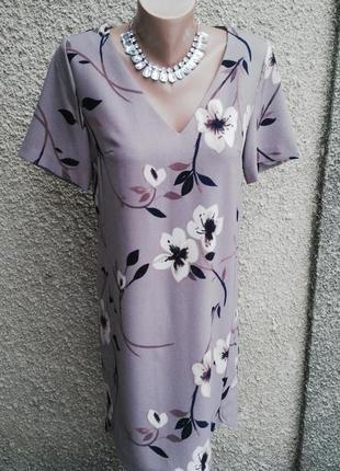 Платье,туника из плотной ткани, в цветочный принт,прямого кроя,удлиненное по спинке, next