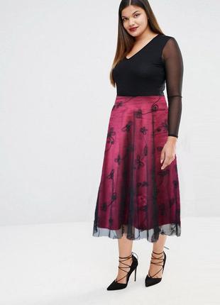 Нарядная юбка m&co uk 20 большой размер