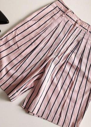 Классные шорты-юбка до колен с высокой талией