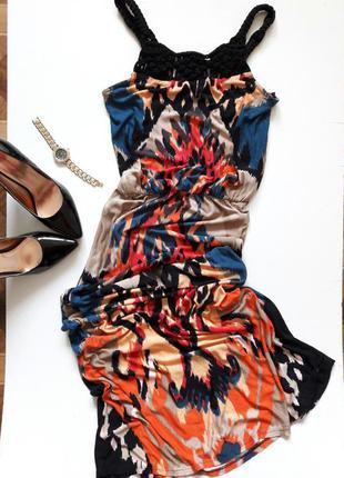 Разноцветное платье макси.