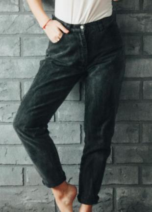 Чёрные высокая талия бойфренды джинсы levis размер м