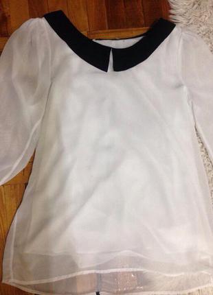 Нежная блуза с бантиками на спинке zara