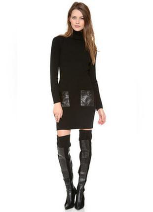 Платье h&m c кожаными карманами