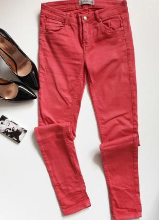 Красные джинсики скини....от zara