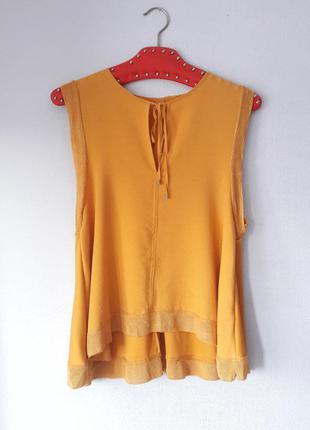 Блуза горчичный цвет желтая размер m l zara