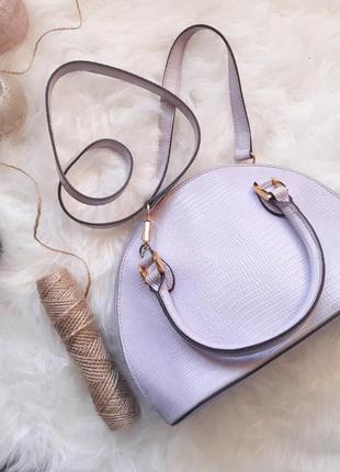 Atmosphere сумка лилового сиреневого цвета кросс боди на длинном ремешке