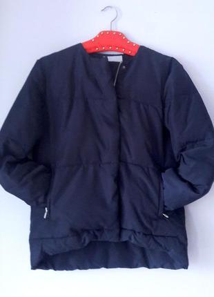 Зимняя куртка синяя на молнии размер s m h&m