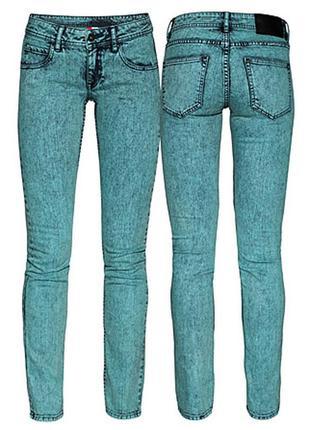 Джинсы варенки h&m aqua skinny jeans