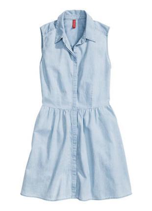Тонкое джинсовое платье h&m
