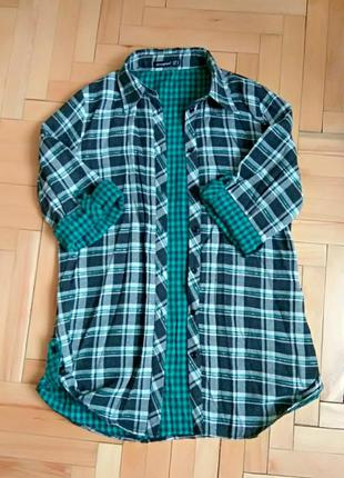 Классная стильная рубашка в клетку
