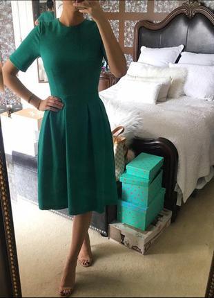 Фактурное платье миди с карманами  h&m