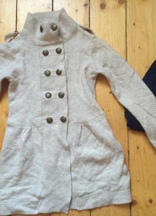 Шерстяной свитер пальто кардиган