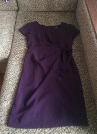 Красивое фиолетовое платье