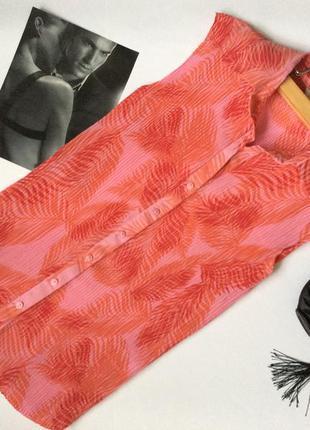 Стильная шифоновая блуза с воротником marks&spencer размер s-m