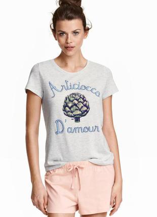 Пижамный комплект с шортами h&m пижама 36