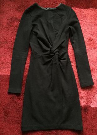 Платье zara черное с длинным рукавом