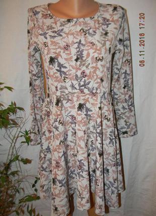 Нежное платье с принтом mango