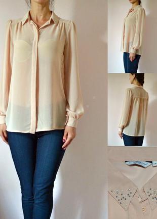 Нарядная блуза с воротничком