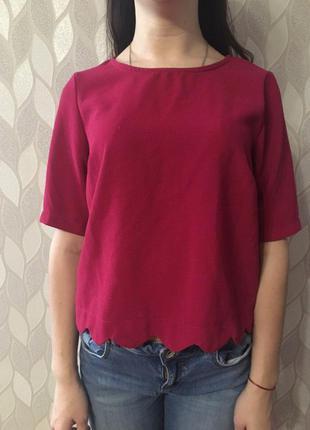 Малиновая блузка