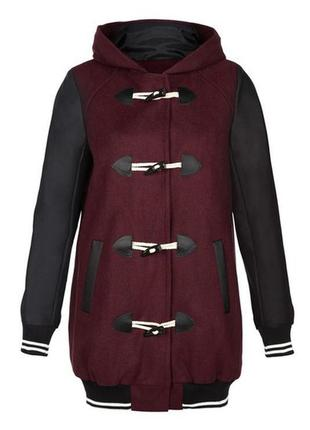Спортивное пальто atmosphere с кожаными рукавами, xs-s