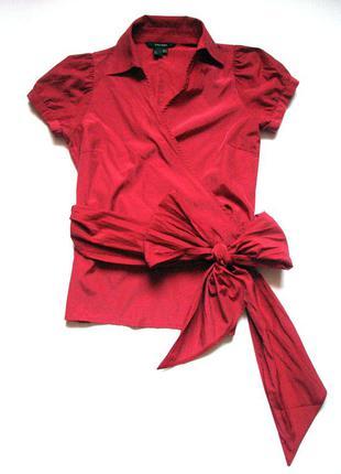 Блузка на запах, короткий рукав
