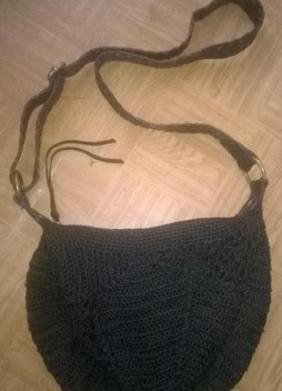 Вязаная сумка кросбоди бохо next