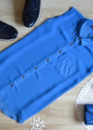 Блуза  волошкового кольору atmosphere