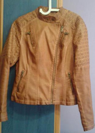 Осіння куртка косуха коричнева