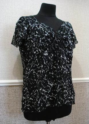 Летняя кофточка нарядная блузка с коротким рукавом большого размера 22(5xl)