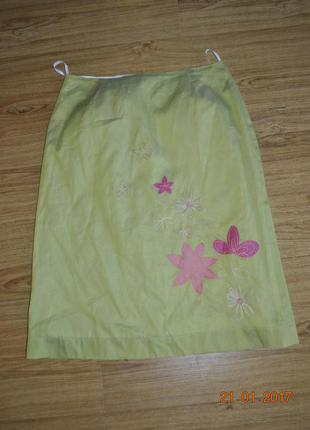 Хлопковая юбка от marks spencer 36р