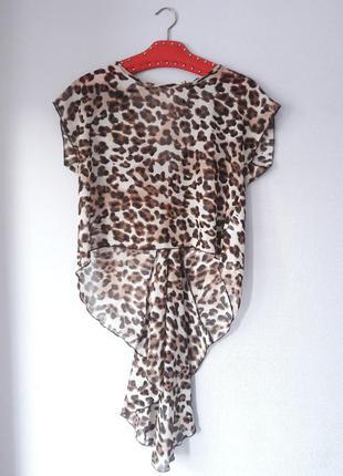 Шифоновая блуза открытая спина со шлейфом размер s m l zara