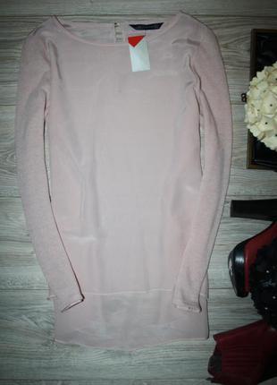 Роскошная блуза с вязаными рукавами
