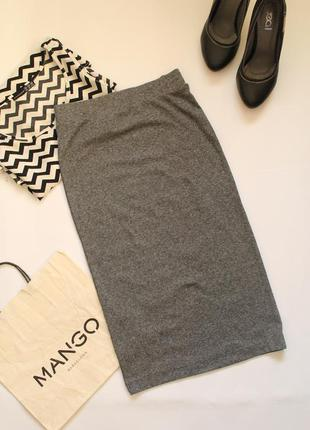 Классная серая обтягивающая юбка h&m, xs
