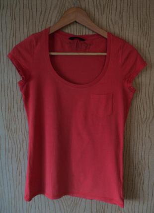 Подарю футболка хлопковая красная персиковая спортивная