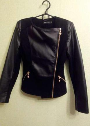 Шикарная куртка кожанка косуха