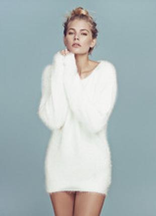 Удлиненный свитер. туника, платье пушистик forever 21