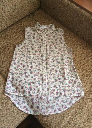 Цветочная блуза из шифона