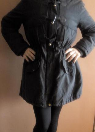 Парка куртка ассиметрия зимняя