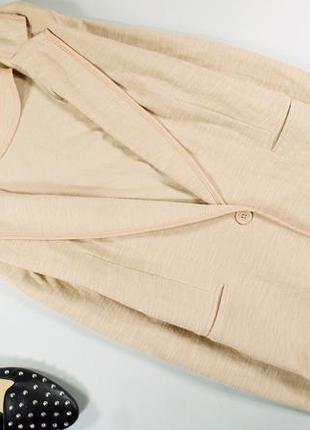 New look нежно-бежевый блейзер, пиджак на одну пуговичку!